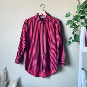90s Stripe button down